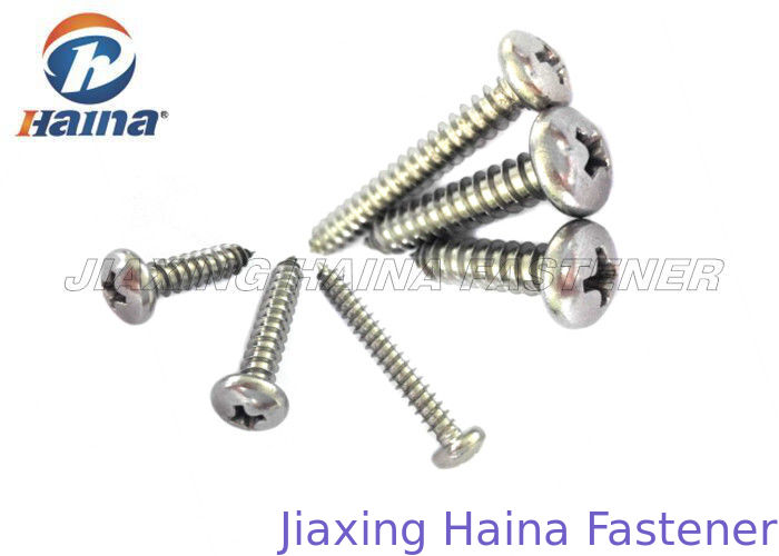 Pozi Pan Head Self Tapping Screws With Flake Zinc Silver Surface DIN 7981