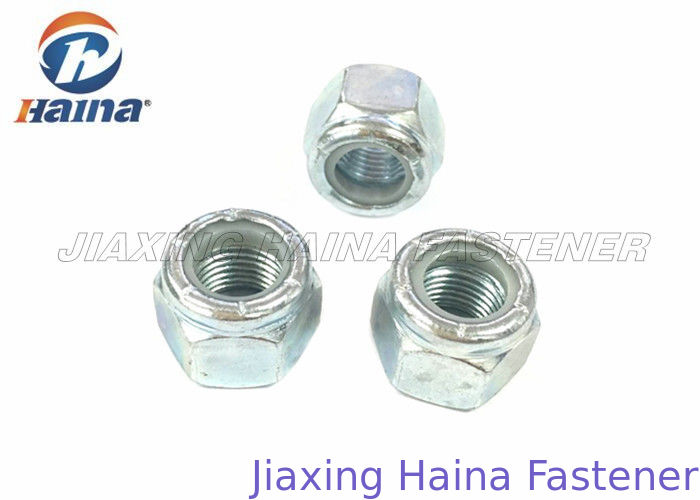 Stainless Steel Hex Head Nuts With Nylon Insert Lock Electroplating ASME B18.16.6