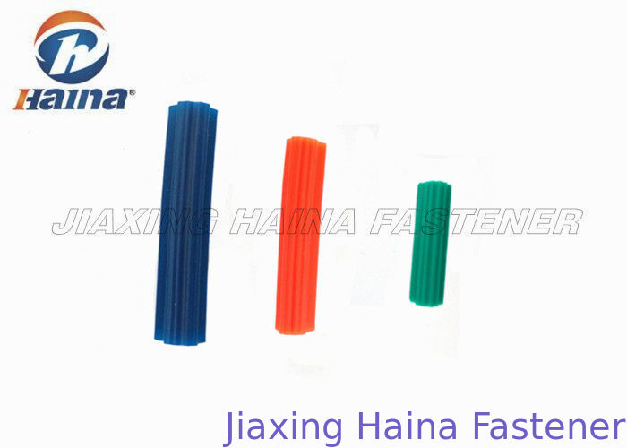 "Orange / Blue / White 5/16x1"" Concrete Anchor Bolts , Plastic Nylon Wall Plugs"