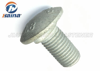 China Hot forging Large Head Carriage Bolts HDG Plated Coarse Thread NON Standard factory