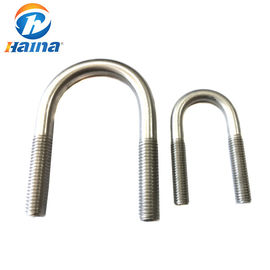 DIN3570 A2 -70 Stainless U Bolts With Nut , 316L Square U Bolts Free Sample