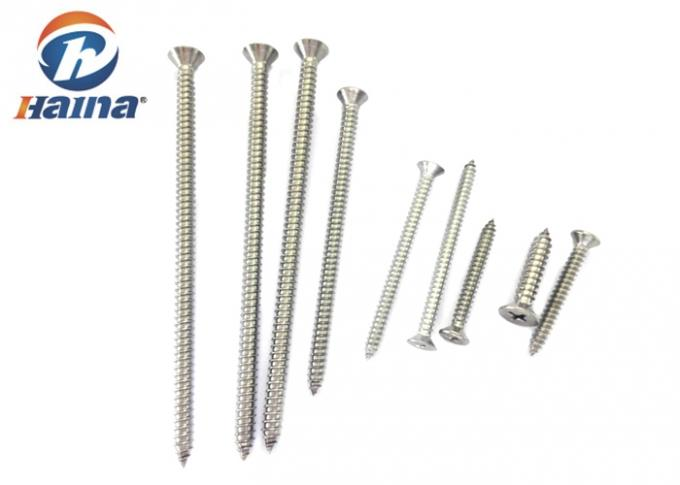 DIN7982 Stainless Steel 304 316 CSK Head Self Tapping Bolts For Metal A2 , A4 Grade