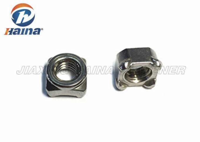 Stainless Steel Nuts A2-70 DIN928 M8 Square Weld Nuts with Uniform Projections