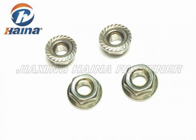Metric A4 70 Stainless Steel Flange Nuts Plain Color For Pipe Connections