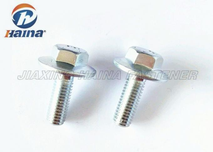 Left Full Thread Hex Head Bolts UNC Blue Zinc Plated DIN 6921 10.9 Grade