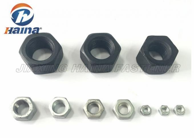 Black Surface Hex Head Nuts Alloy Steel Grade 2H For Large Heavy Engineering
