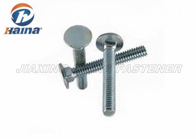 "Carbon Steel 1/2""-4"" Countersunk Carriage Bolts , White Galvanized Hex Bolts"