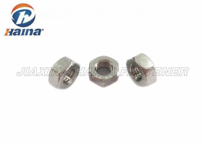 316 Stainless Steel Nuts Fine Thread Hex Finished for Machinery DIN 934