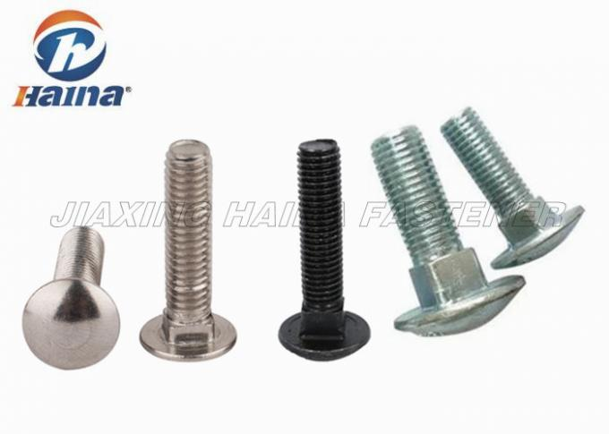A2-70 / 304 Stainless Steel Round Head Bolt With Neck Half Thread