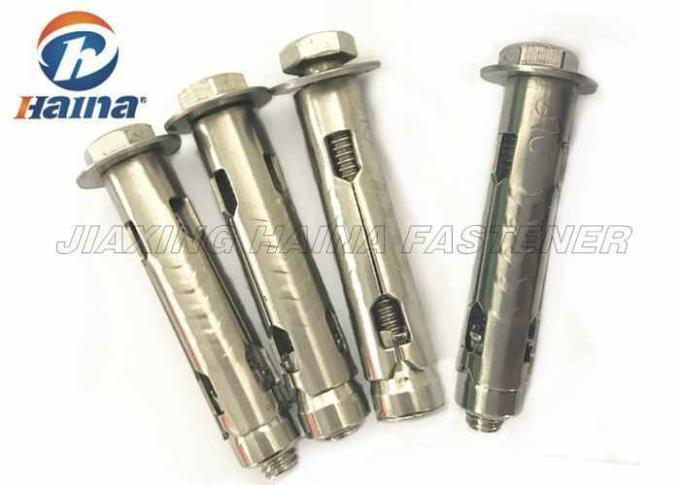 Customized Stainless Steel Anchor Bolts , A2-70 304 Sleeve Anchor Bolt with Washer