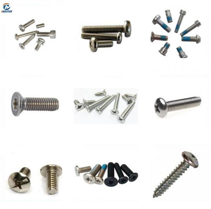 SS304 SS316 316L Slotted Socket Stainless Steel Metric Machine Screws 8mm - 40mm Length