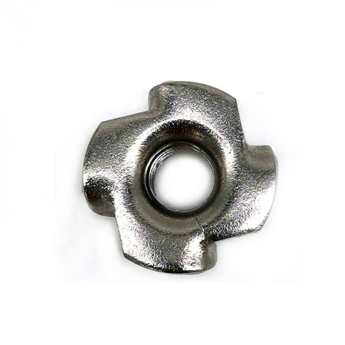 OEM SS304 / 316 Four Claw Tee Furniture Stainless Steel T Nuts Plain Finish Surface